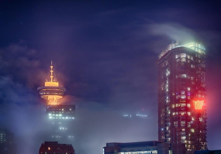 Fog occupied Vancouver